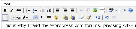 wordpress alt-b