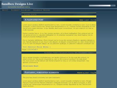 Moon Under Uranus Theme for WordPress Sandbox